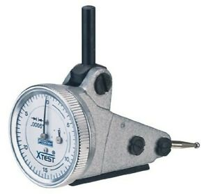 Fowler 52 562 005 Vertical White Dial X test Indicator 0 0005 Grad Interval