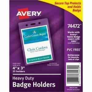 Avery Vertical Style Heavy duty Badge Holder 74472