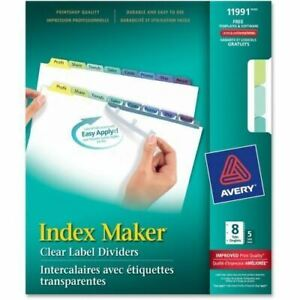 Avery 8 colored Tabs Presentation Divider 11991