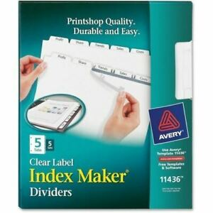 Avery Index Maker Clear Label Divider With Tabs 11436