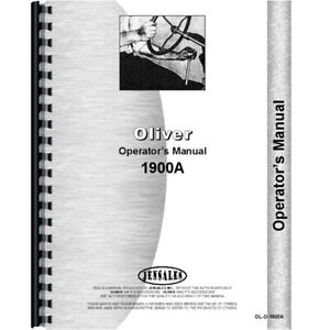 New Oliver 1900a Tractor Operators Manual