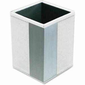 Artistic Architect Line Pencil Cup White silver Metal Art43005wh