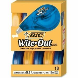 Bic Wite out Correction Tape Wotap10whi