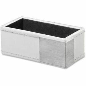 Artistic Architect Line Business Card Holder White silver Metal Art43001wh