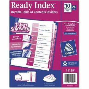 Avery Uncollated Index Divider 11169