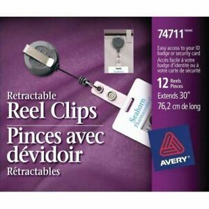 Avery Clip on Retractable Id Reel 74711
