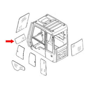 Lower Front Cab Glass Window Fits In Volvo Excavator C Series 11205358