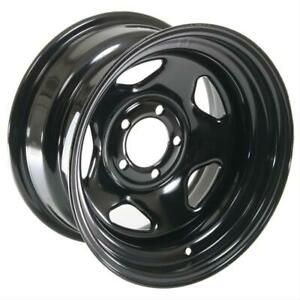 Cragar Black Steel V 5 Wheels 15 X8 5x4 5 Bc Set Of 4