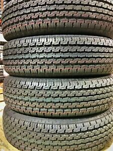 4 New Premium Cargo Max St205 75r15 D 8 Ply Steel Belted Radial Trailer Tires