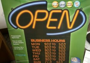 Open Sign 20 Programmable Business Hours Led By Premier Pos W Hardware