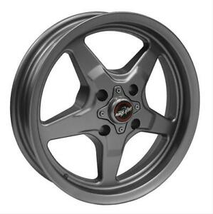 Race Star 91 Drag Star Metallic Gray Wheel 91 537001g