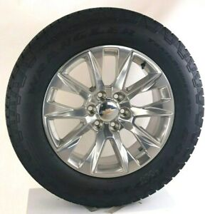 New 2019 Takeoff 20 Chevy Silverado Tahoe Polished Wheels Goodyear A T Tires