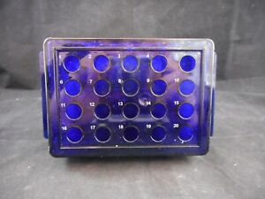 Lab Plastic 20 place Cooler For 0 5ml 2ml Tubes 10 To 20 c Reversible Purple