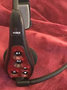 Used Hme Hs6000 Red Wireless Drive Thru Intercom Headset Works Great No Battery