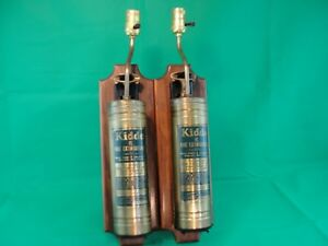 Pair Of Antique Brass Kidde Vl Fire Extinguisher Wall Lights Sconce Wall Mounts
