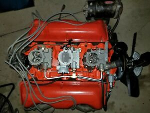 F760 Dated Chevy 348 Engine W Tri Power Option Numbers Matching