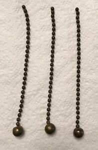 Set Of 3 Antique Brass Chains For Hanging Antique Pharmacy Show Globe Rare