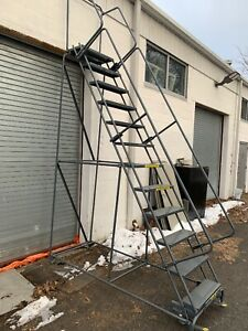 Ballymore Industrial 12 Step Warehouse Rolling Ladder