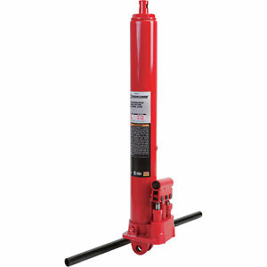 Strongway Hydraulic Long Ram Jack 3 Ton Capacity Double Pump Clevis Base