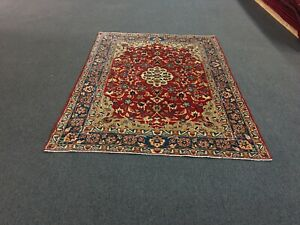 On Sale Semi Antique Hand Knotted Floral Persian Arearug Carpet 5x7 5 X6 11