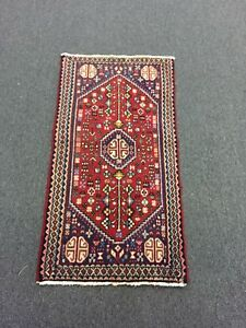 On Sale Genuine Hand Knotted Persian Abadeh Rug Carpet Geometric 1 9x3 5 2564