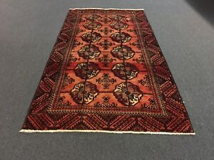 Sale Beautiful Semi Antique Hand Knotted Persian Rug Geometric Carpet 4 8 X8 9