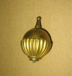 Antique Brass Ornate Globe Pattern Lamp Finial Topper With Bolt Stock Part 15