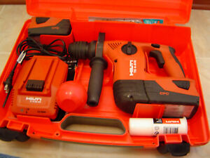 Hilti Te4 a18 Cordless Rotary Hammer Drill 2 Batteries Charger Case 9 Bits