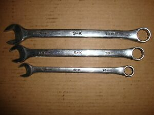 Sk Tools 3 Piece Chrome Metric Combination Wrench Set 13 16 18mm