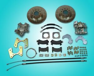 64 77 Gm 10 12 Bolt Rear Axle End Disc Brake Conversion Kit With Parking Brake