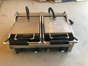Waring Wfg300 Panini Toasting Grill With Dual Flat Plates 240v