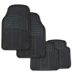 Anti Skid Car Floor Mats For All Weather Rubber 4pc Set Semi Custom Fit