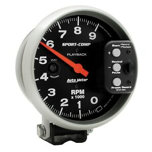 Autometer 3966 Sport Comp Playback Tachometer Fits 5 6 Pulse Ignition Signals