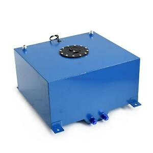 New 10 Gallon 40l Race Drift Aluminum Fuel Cell Tank With Level Sender Blue