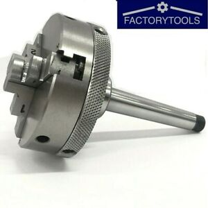 Mini Lathe Chuck 65mm Diameter With Mt 2 Mounting Shank