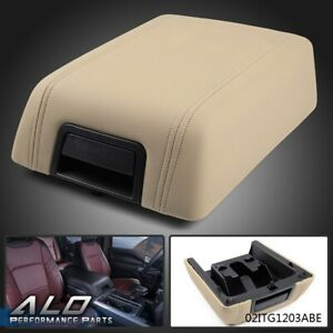 Oem Center Console Arm Rest Lid Cover Pad Beige Leather For 2004 2008 Ford F 150