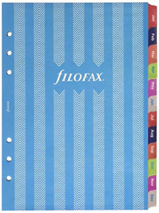 Filofax 2019 A5 Refill Week To View Illustrated Stripes 5 Languages 8 25 X