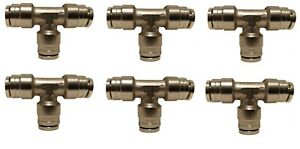 6 Air Suspension System Fittings 1 4 Air Hose Push In To 1 4 3 Way Tee Union