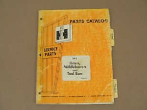 Parts Catalog International Harvester Tb 2 Listers Middlebusters Tool Bars 1970