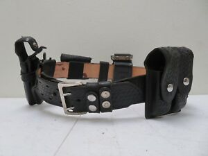 Galls Leather Police Security Duty Belt Size 38 W 7 Accessories