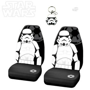 For Chevy 3pc Star Wars Stormtrooper Car Seat Cover With Keychain Set