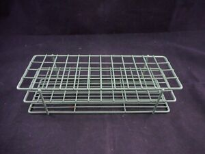 Bel art 16mm Tube Vial Rack Holder Epoxy Wire 9 5 X 3 5 X 2 25 48 place Green