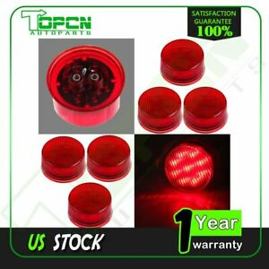 6x 2 Red 9 Led Side Marker Lamp Clearance Light For Truck Trailer Waterproof