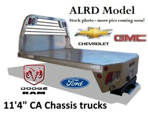 11 4 Chassis Bed Fits Ford Gm Dodge Ram Trucks Alrd Aluminum Flatbed 244598