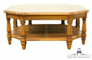 Mersman Rustic Country Octagonal Banded Bookmatched 39 Coffee Table 220 23