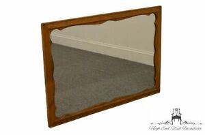 Ethan Allen Heirloom Nutmeg Maple Scalloped Dresser Wall Mirror 10 5010