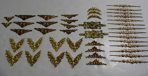 43 Pcs Vtg Victorian Style Ornate Corners Applique Frame Trim Ormolu Style