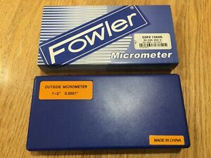 Fowler 1 2 Outside Micrometer 52 235 002 2
