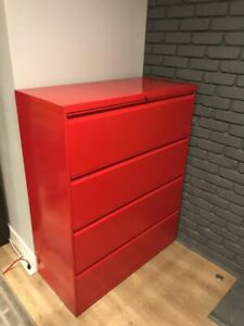 4 Drawer Hon Lateral File Cabinet W Lock And 2 Keys