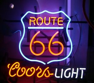 Route 66 Beer Neon Sign Display Store Bar Pub Real Neon Light Custom Sign Z184
